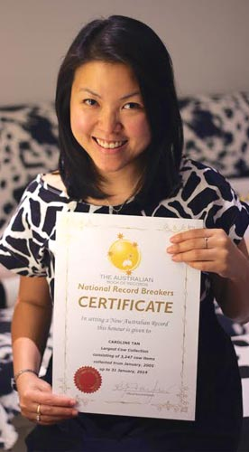 Caroline Tan - Australian Book Of Records Certificate Holder For Largest Cow Collection